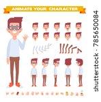 geek character for your scenes. ... | Shutterstock .eps vector #785650084