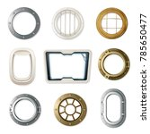 set of realistic portholes of... | Shutterstock . vector #785650477