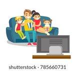 happy caucasian white parents... | Shutterstock .eps vector #785660731
