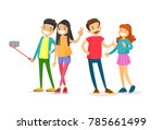 group of caucasian white... | Shutterstock .eps vector #785661499