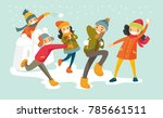 young happy caucasian white... | Shutterstock .eps vector #785661511