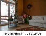 cozy decorated interior  big... | Shutterstock . vector #785662405