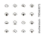 computer cloud icons. perfect... | Shutterstock .eps vector #785663071