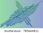 happy birthday in different... | Shutterstock .eps vector #785664811