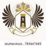 vintage heraldry design... | Shutterstock .eps vector #785667685
