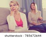 strong quarrel between elderly... | Shutterstock . vector #785672644