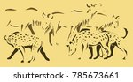 this three color illustration... | Shutterstock .eps vector #785673661