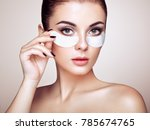 portrait of beauty woman with... | Shutterstock . vector #785674765