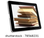 book and teblet computer 3d...   Shutterstock . vector #78568231