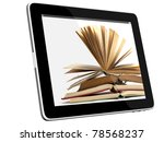 book and teblet computer 3d...   Shutterstock . vector #78568237
