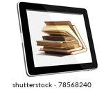 book and teblet computer 3d...   Shutterstock . vector #78568240