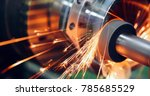 sparks flying while machine... | Shutterstock . vector #785685529