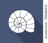 sea shell. flat vector icon... | Shutterstock .eps vector #785686141