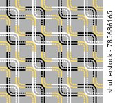 seamless geometric pattern with ... | Shutterstock .eps vector #785686165