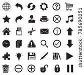 toolbar icons. black flat...   Shutterstock .eps vector #785690251