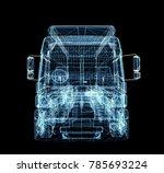 digital truck. the concept of...   Shutterstock . vector #785693224