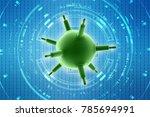 3d rendering viruses in... | Shutterstock . vector #785694991