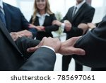 closeup. unified business team . | Shutterstock . vector #785697061