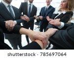closeup. business team showing... | Shutterstock . vector #785697064