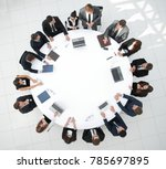 view from the top.meeting...   Shutterstock . vector #785697895