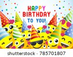 happy birthday background 3d... | Shutterstock .eps vector #785701807