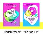 modern gradient banner design... | Shutterstock .eps vector #785705449