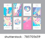 set of creative universal... | Shutterstock . vector #785705659