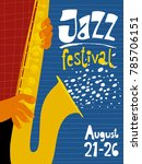 jazz festival poster with... | Shutterstock .eps vector #785706151