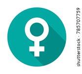 female sex symbol circle icon...   Shutterstock .eps vector #785707759