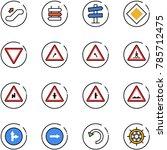 line vector icon set  ... | Shutterstock .eps vector #785712475
