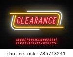 neon light linear promotion... | Shutterstock .eps vector #785718241