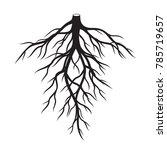 black roots. vector... | Shutterstock .eps vector #785719657