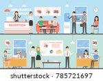 insurance company interior.... | Shutterstock . vector #785721697