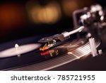 turntable vinyl record player... | Shutterstock . vector #785721955