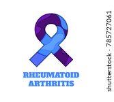 rheumatoid arthritis awareness... | Shutterstock .eps vector #785727061