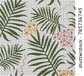tropical memphis seamless...   Shutterstock .eps vector #785736745