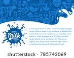vector milk illustration with...   Shutterstock .eps vector #785743069