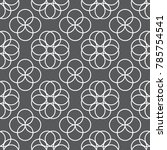 seamless circle based pattern... | Shutterstock .eps vector #785754541