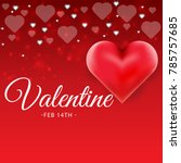 valentines day sale background... | Shutterstock .eps vector #785757685