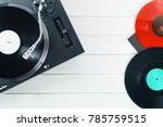 turntable vinyl record player... | Shutterstock . vector #785759515