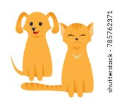 cat and dog characters. best... | Shutterstock .eps vector #785762371
