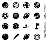 origami style icon set   ball... | Shutterstock .eps vector #785774407