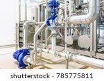 metallic plate in heat exchange ... | Shutterstock . vector #785775811
