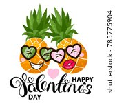 happy valentines day card with... | Shutterstock .eps vector #785775904
