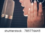 song recording by singer.... | Shutterstock . vector #785776645