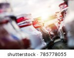automotive sales theme. rows of ... | Shutterstock . vector #785778055