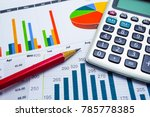 charts graphs paper. financial... | Shutterstock . vector #785778385
