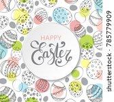 vector easter festive... | Shutterstock .eps vector #785779909