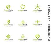 collection of logo templates.... | Shutterstock .eps vector #785790535