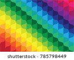 colorful curve abstract... | Shutterstock .eps vector #785798449